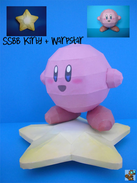Kirby Warp Star Papercraft