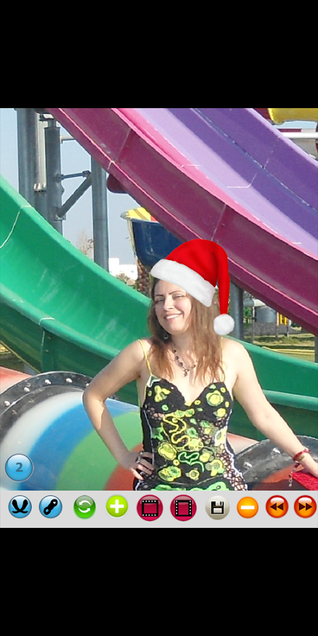 Hat Santa Claus photo montage- screenshot
