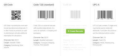 Alternatif jenis barcode