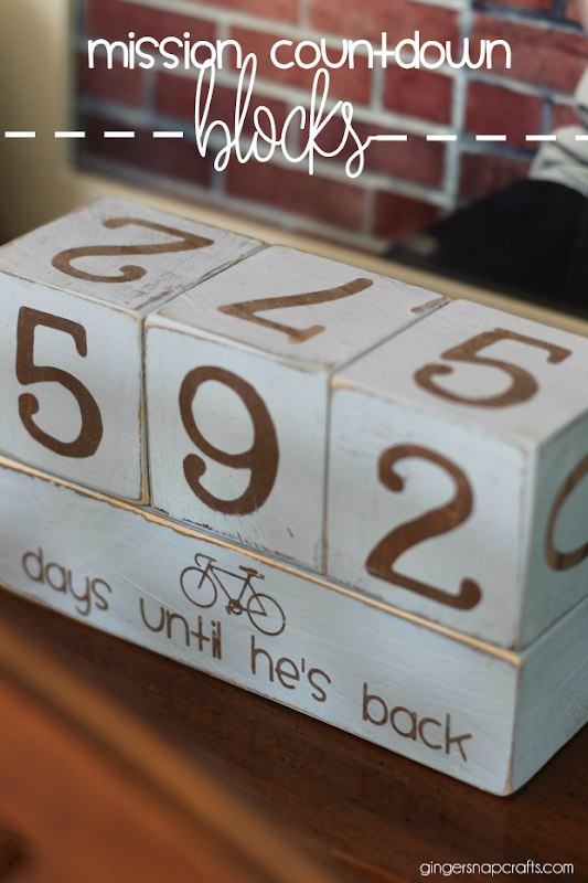 mission countdown blocks at GingerSnapCrafts.com #sharegoodness