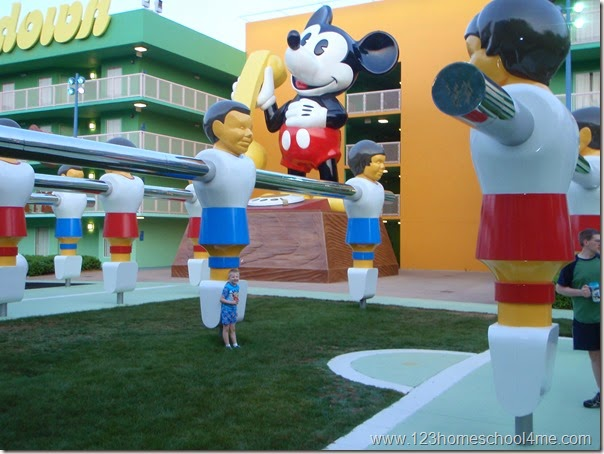 Pop Century - Disney world hotels are a great value with lots of extra perks