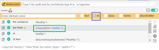 Build XPath using id attribute