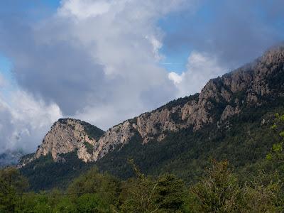 Serrat de la Corba, i al fons la Roca Terçana