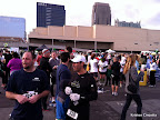 The post-race crowd at Atlantic Station.