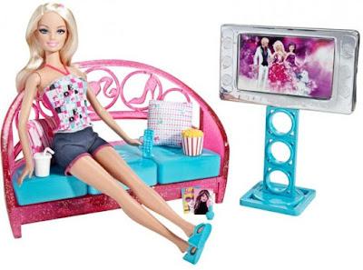 Phòng giải trí tại gia Barbie Movies To Munchies