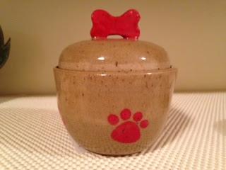 Dog Paw Treat Jar