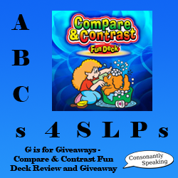 ABCs 4 SLPs: G is for Giveaways - Compare & Contrast Fun Deck Review and Giveaway image