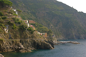 View of Riomaggiore from Manarola