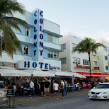 colony hotel on Ocean Drive in Miami, Florida, United States