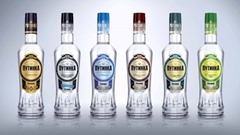 Photo of bottles of the Russian Vodka Putinka.