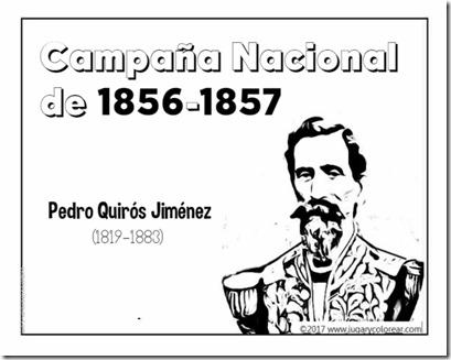 Campaña Nacional  de 1856-1857  Pedro Quirós Jiménez
