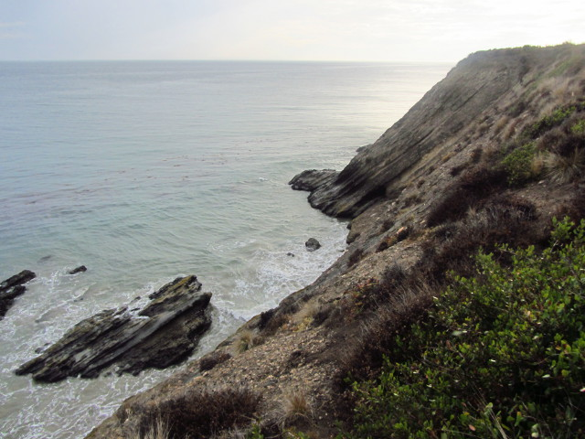 cliff at Gaviota State Park
