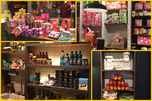 selection of lush gift sets and products