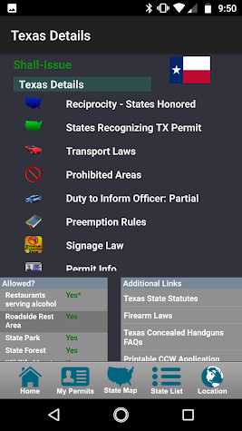 CCW – Concealed Carry 50 State Screenshot