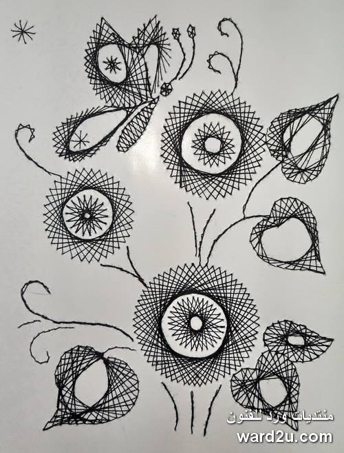 الرسم بالخيوط الملونة بتقنية Izonityu