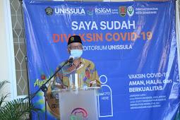Hasan Toha Putra Resmikan Sentra Vaksin Covid-19 di Auditorium Unissula Semarang