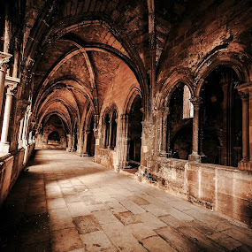 Lisbon Cathedral Se by Paweł Mielko - Buildings & Architecture Public & Historical ( catholic, gothic, church, arches, buildings, cathedral, architecture )