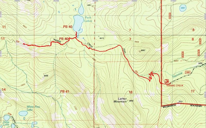 Nannie Creek Trail Puck Lakes Sky Lakes Wilderness Oregon