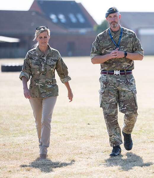Countess of Wessex attends RAF Wittering for Royal Outing