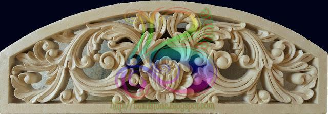 Kerajinan batu alam Roster relief ukiran klasik