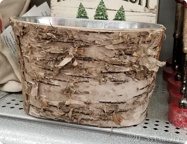 birch bark bucket