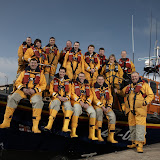 Poole lifeboat crew onboard the Tyne class lifeboat