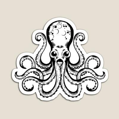 Alien octopus sticker by Gregory Avoyan