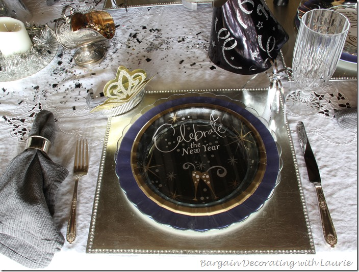 New Year's Table-Bargain Decorating with Laurie
