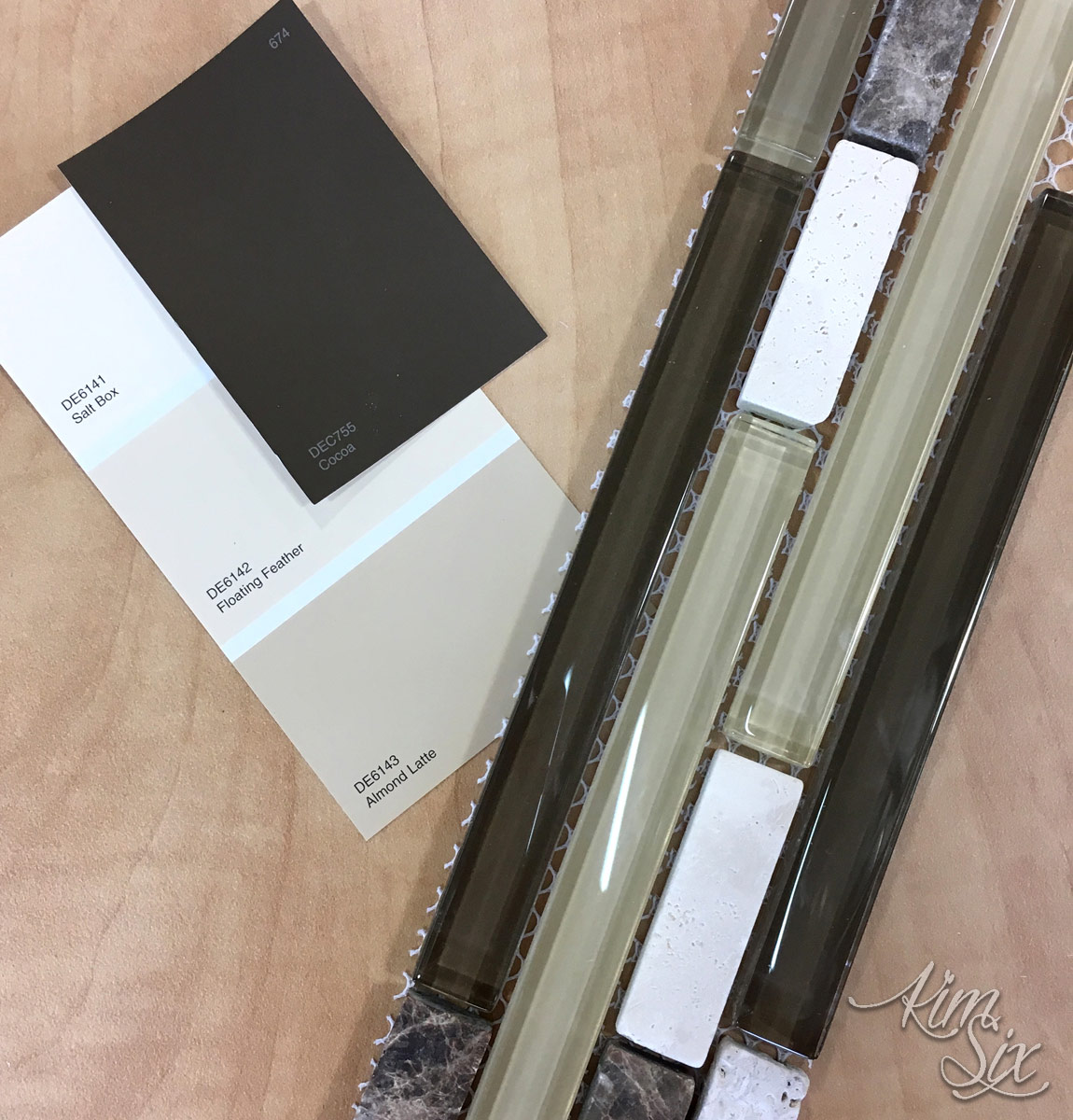 Matching paint color to pencil tile