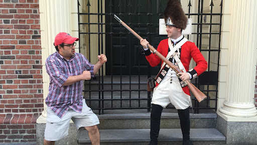 """Not to worry, I didn't start an International Incident. This """"British Soldier"""" was a good sport!"""