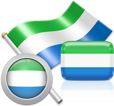 Sierra Leonean flag icons pictures collection