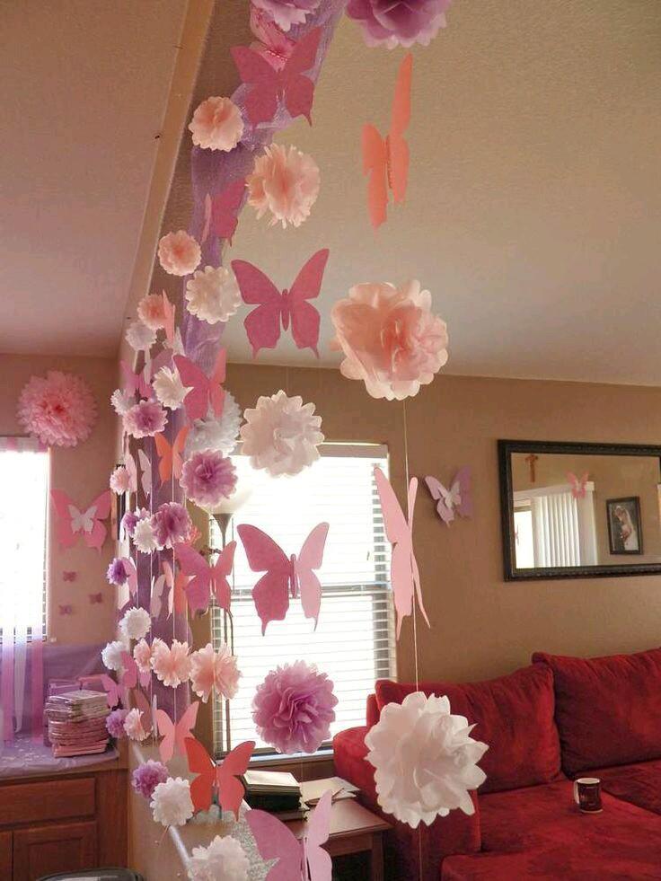 M s y m s manualidades decoraciones de fiesta con papel - Decoraciones de papel ...