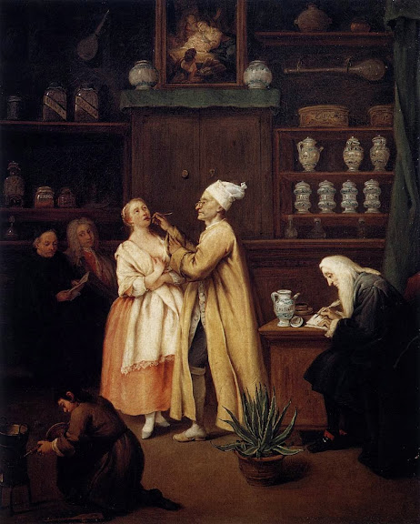 Pietro Longhi - The Apothecary