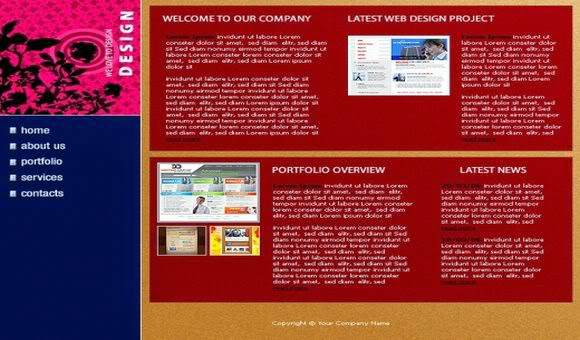 Free Flash Money Business Company Web2.0 Template