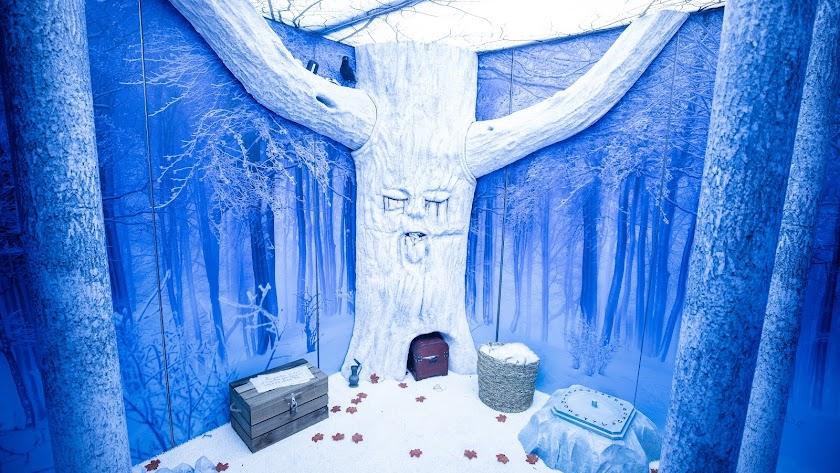 Detalle de uno de los juegos de escape creados para la exposición.