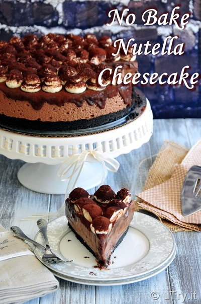 How to Make Nutella Cheesecake (No Bake) - 免烤焗榛子醬芝士蛋糕  http://uTry.it