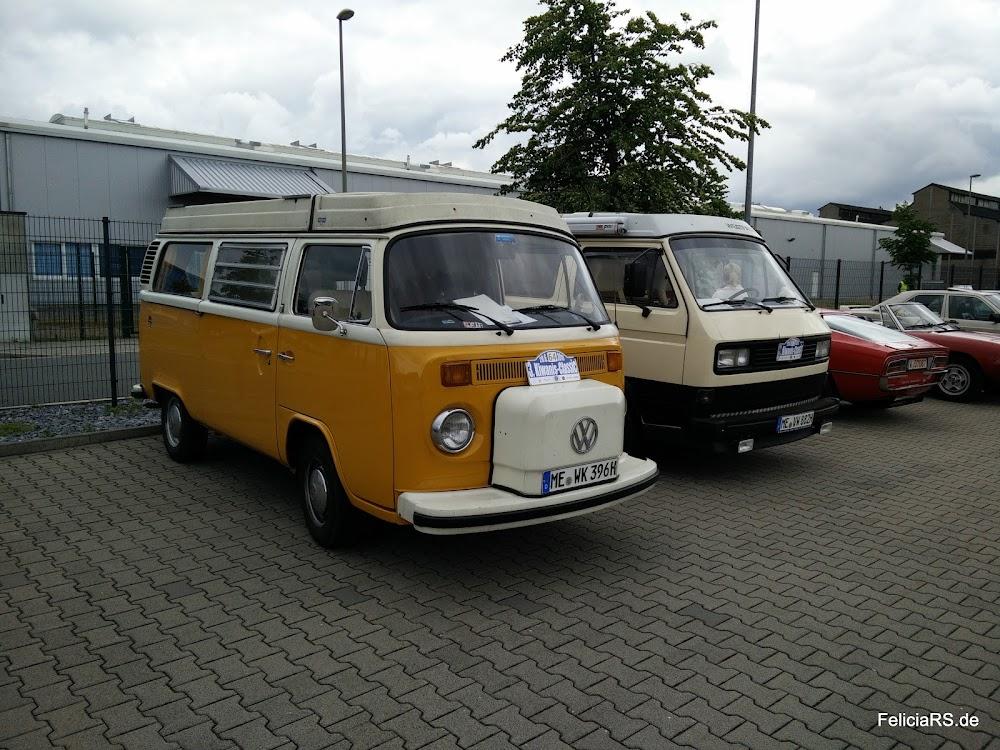 Startnummer 64 VW T2b 1979 Startnummer 71 VW T3 1982