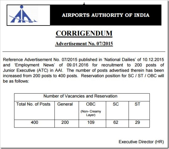 AAI-junior-executive-recruitment-vacancies-increased