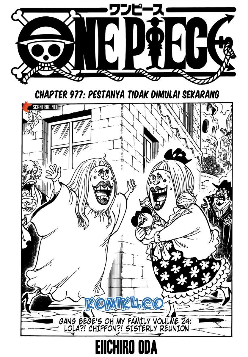 Komik One Piece 977 : komik, piece, Komik, Piece, Chapter, Bahasa, Indonesia, UNION