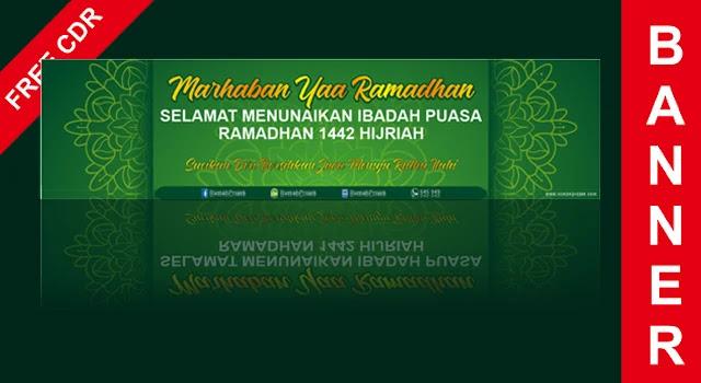 Download Banner Kegiatan Ramadhan CorelDraw X7