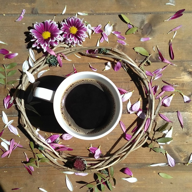 coffee and petals