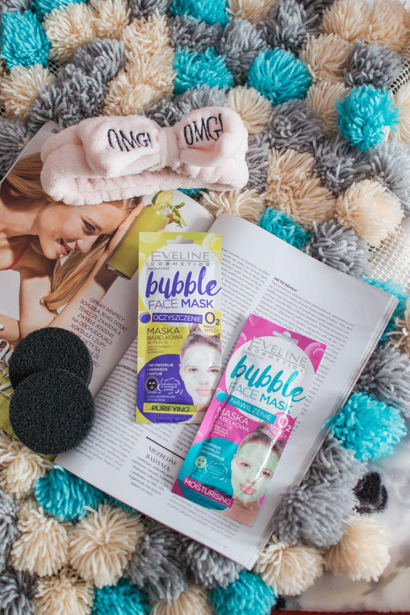Eveline, Bubble Face Mask | Oczyszczająca i nawilżająca bąbelkująca maska w płacie