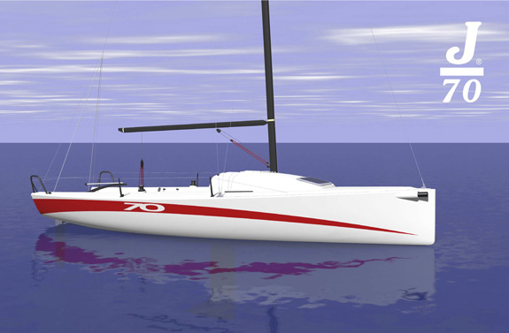 J/70 one-design speedster- a sailboat for passionate sailors- designed for trailer sailing
