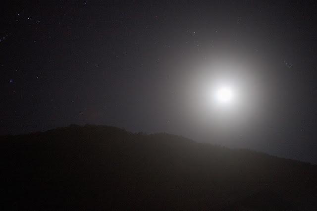 櫛形山 月