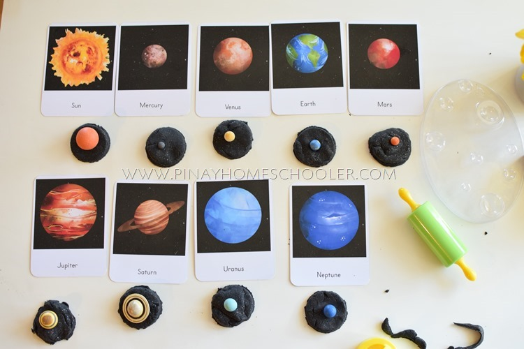The Solar System and Space 3 Part Cards