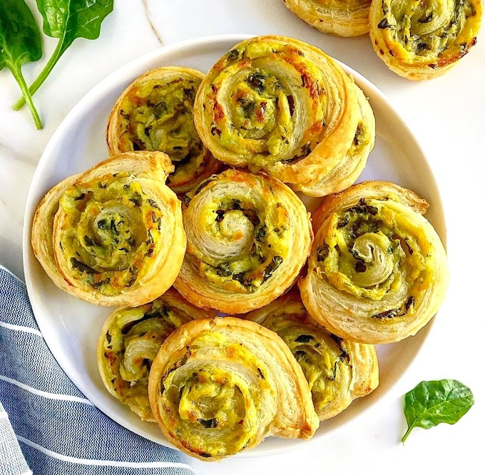 Spinach Artichoke Pinwheels Recipe | Breakfast Care