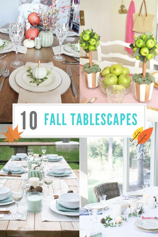 Fall Tablescapes at GingerSnapCrafts.com #fall #tablescapes