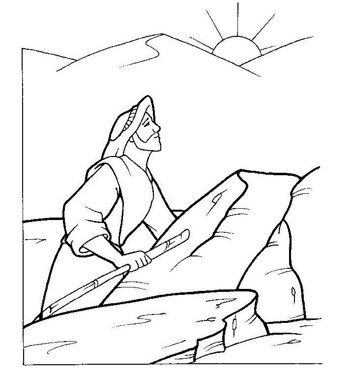 Jesús es tentado en el desierto para colorear