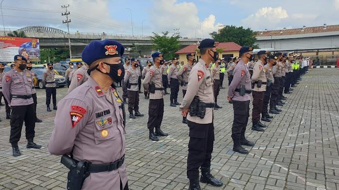 Brimob Kaltim turut serta Apel Gelar Pasukan Pengamanan Malam Takbiran
