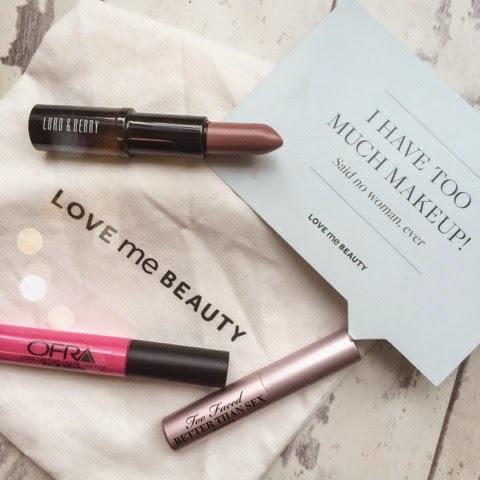 beauty-blog-lifestyle-blog-love-me-beauty-subscription-box-make-up-cosmetics-lord-and-berry-chiffon-ofra-liquid-lipstick-too-face-better-than-sex-mascara-maddie-bruce